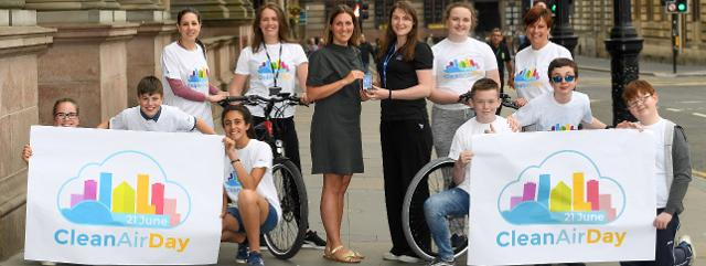 Hyndland pupils help to launch Clean Air Day