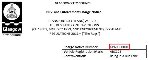 Bus Lane fine
