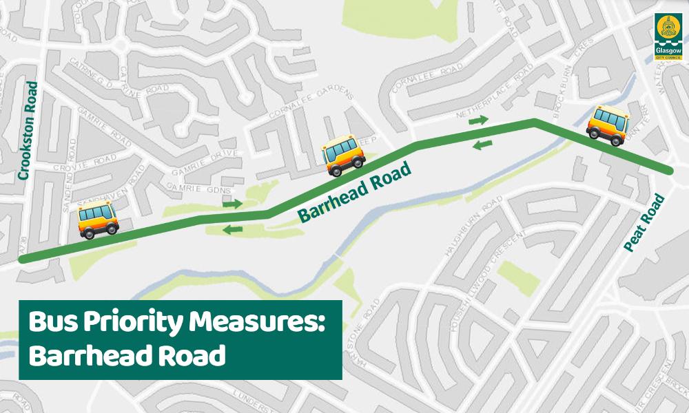 Bus Priority - Social Graphic - Barrhead Rd
