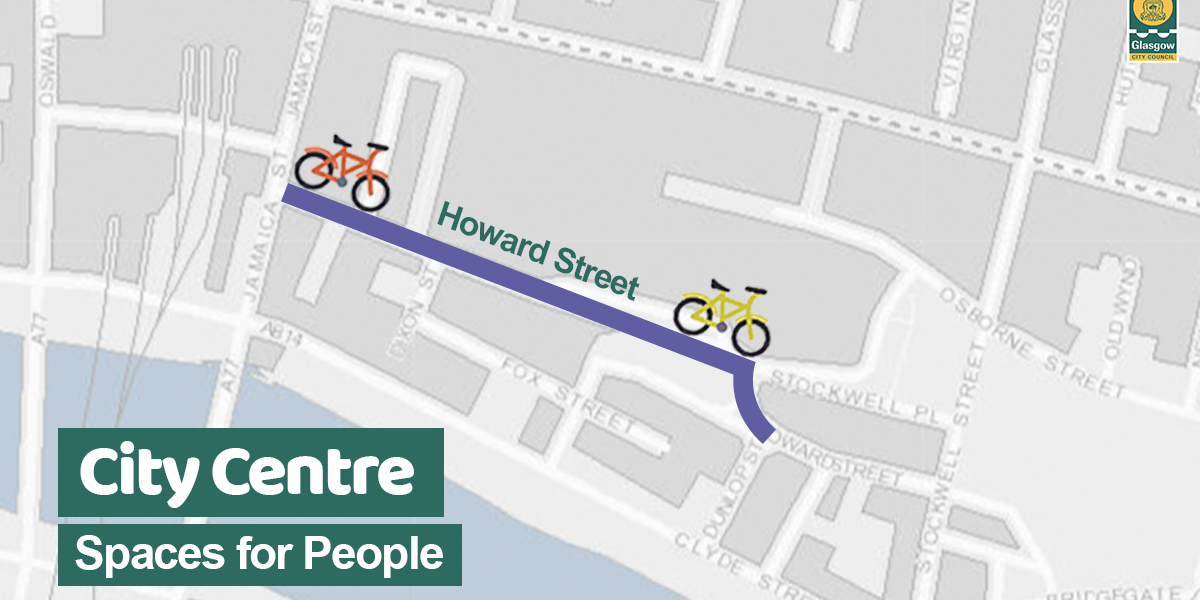 Howard St cycle lane graphic