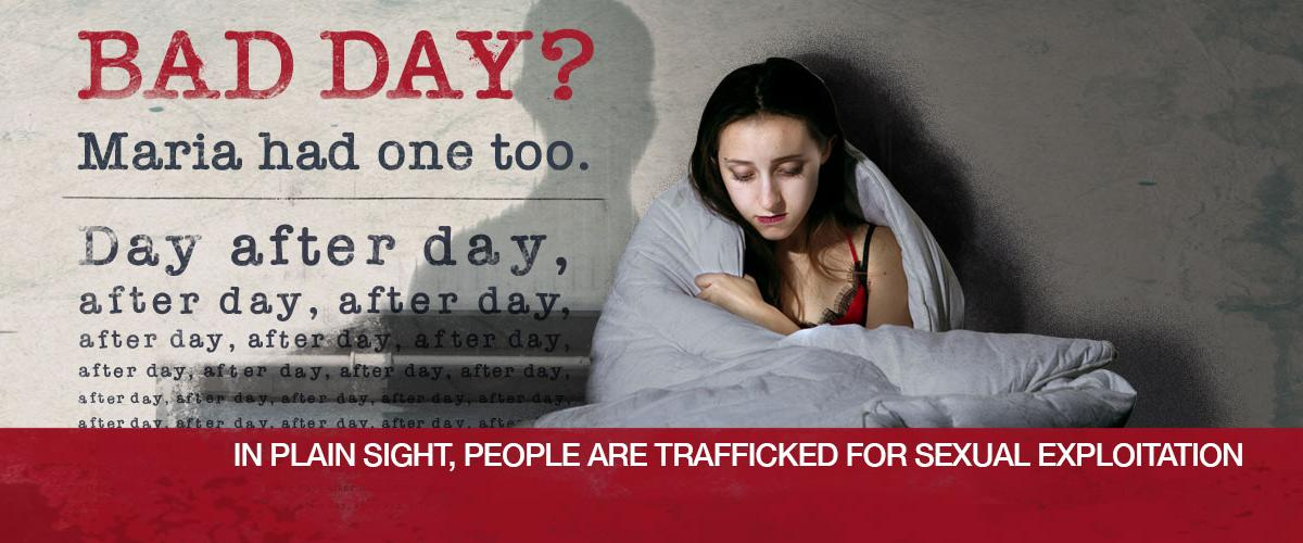 Human trafficking ad campaign