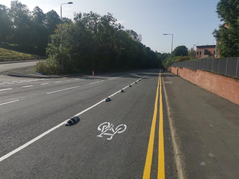 Bilsland Drive complete cycle lane 3