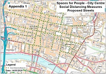 Spaces for People - City Centre map
