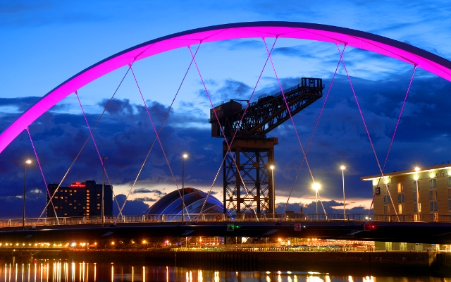 Clyde Arc & Glasgow Skyline