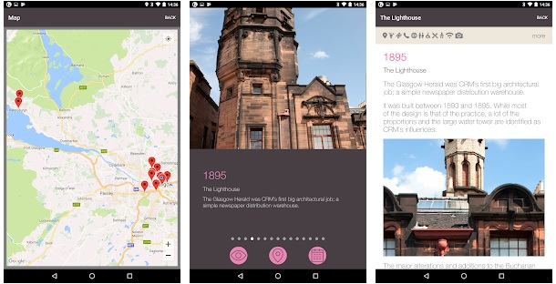 Screenshot of Go Glasgow app
