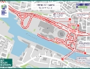 COP26 road closures SEC and Finnieston Displays a larger version of this image in a new browser window
