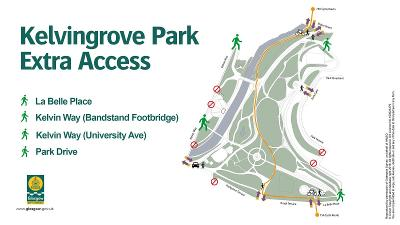 Kelvingrove extra access map